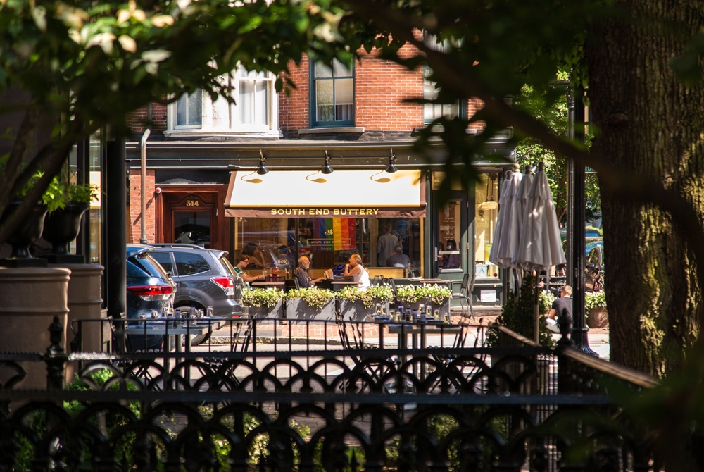 Exterior Shot of Neighborhood Bakery, South End Buttery