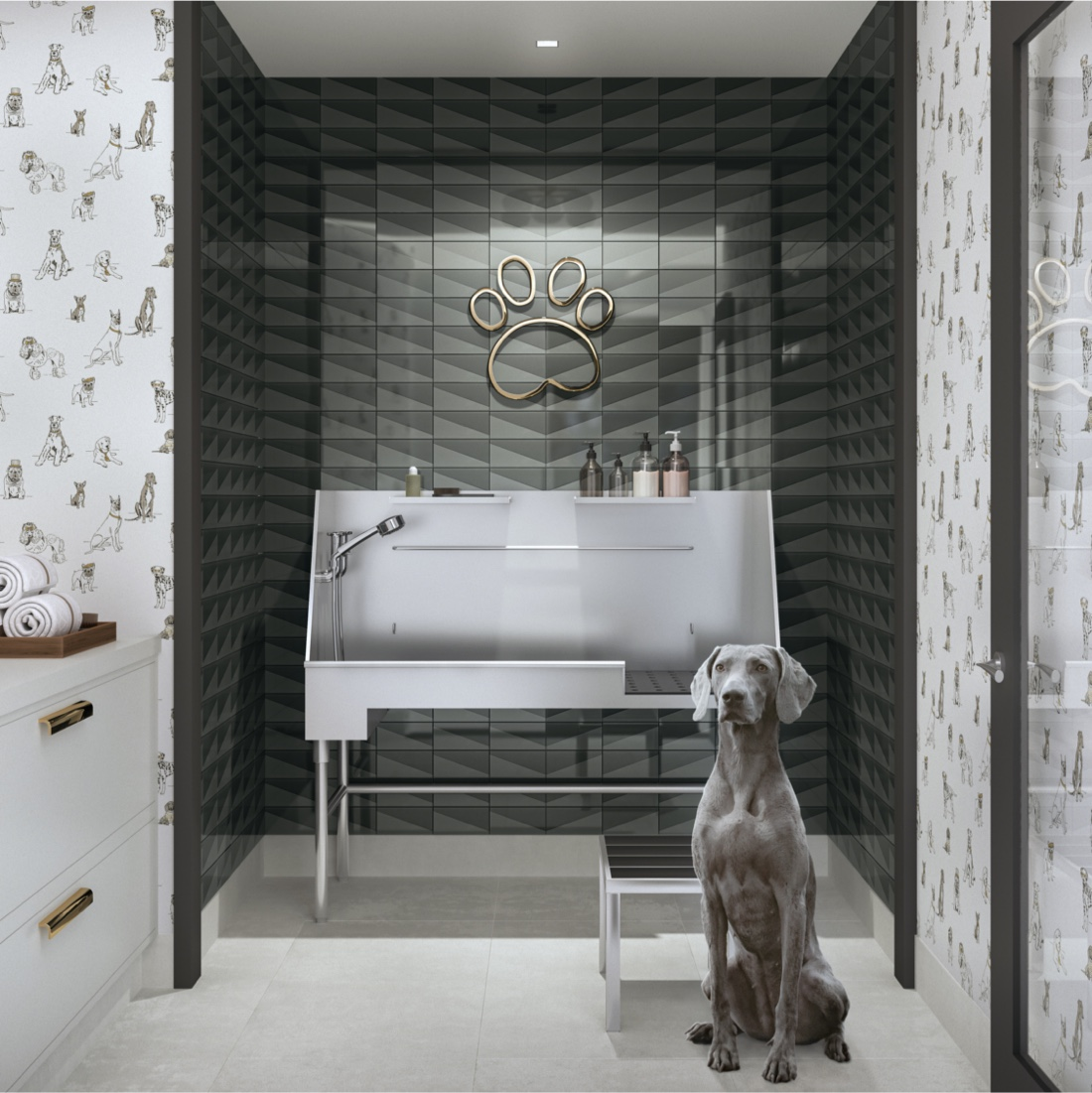 100 Shawmut offers a pet spa for furry residents