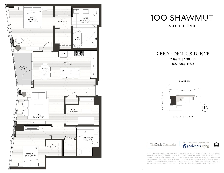 Presenting Residence 902 at 100 Shawmut